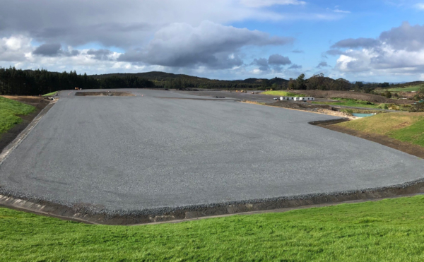 Power station platform earthworks completed, ready for installation of the power station
